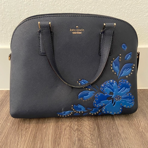 One of a kind Kate Spade Navy Satchel purse